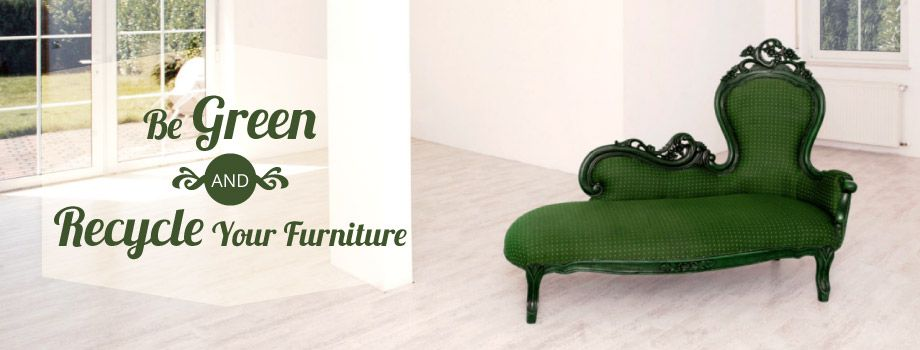 Be Green and Recycle Your Furniture - Old sofa